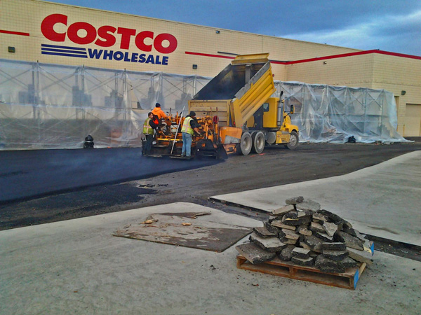 Anchorage Costco Paving Operation